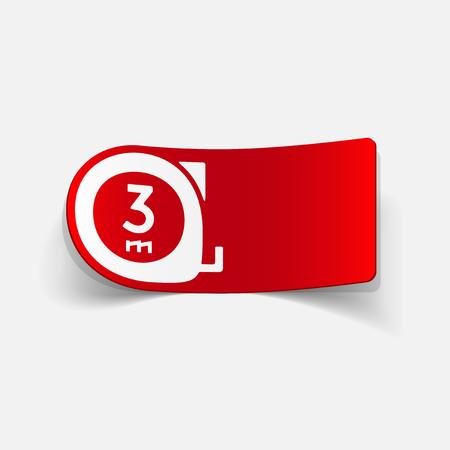 realistic design element: cartridges meters Illustration
