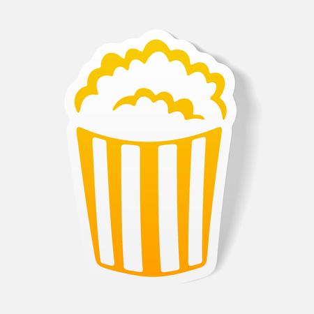 Lément de design réaliste: popcorn Banque d'images - 84291640