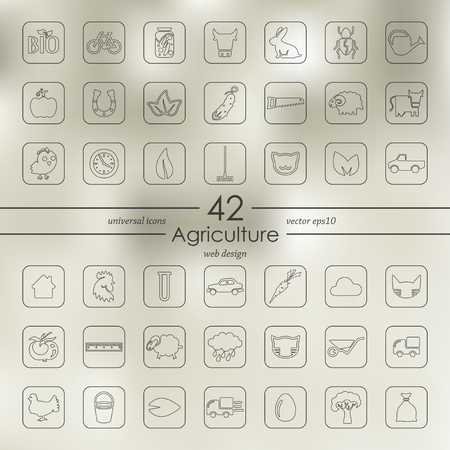 Set of agriculture icons vector illustration.