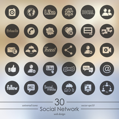 Set of social network icons vector illustration.
