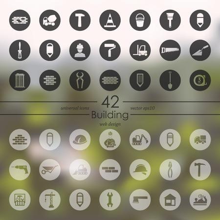 Set of building icons vector illustration. Illustration