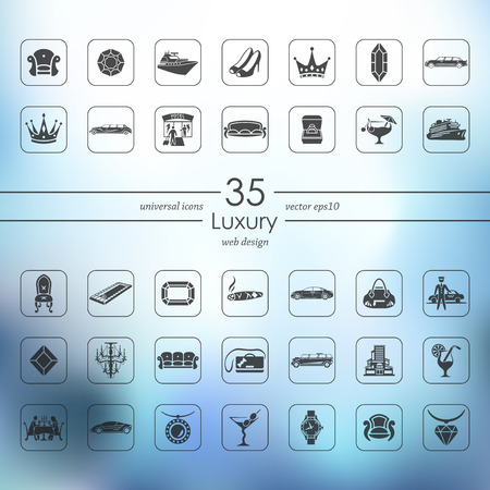Set of luxury icons vector illustration.