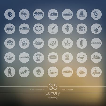 Set van luxe iconen vector illustratie.