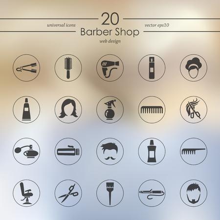Set of barbershop icons Stock Vector - 84954195