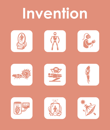 Set of invention simple icons Imagens - 84955119