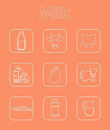 それはミルクの簡単な web のアイコンのセット  イラスト・ベクター素材