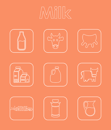 Het is een set van melk eenvoudige web iconen