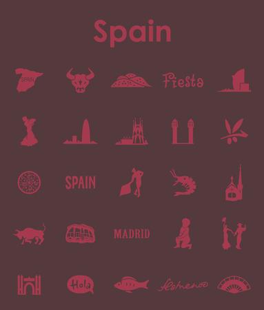 스페인 간단한 아이콘 세트 일러스트
