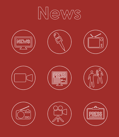 journalism: Set of news simple icons