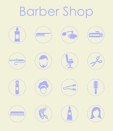 Set of barbershop simple icons Stock Vector - 85016469