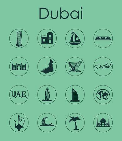 Set of Dubai simple icons. Ilustração