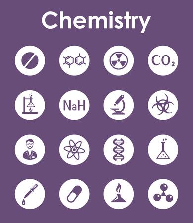 Set von Chemie einfache Symbole Standard-Bild - 85038483