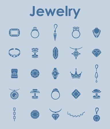 Set di gioielli semplici icone Archivio Fotografico - 85016464