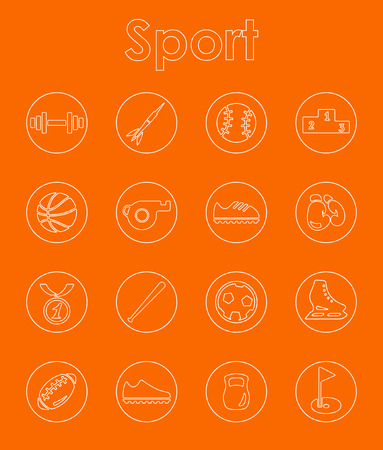 Set of sport simple icons