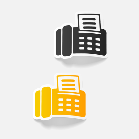 realistic design element: fax Stock Vector - 85038584