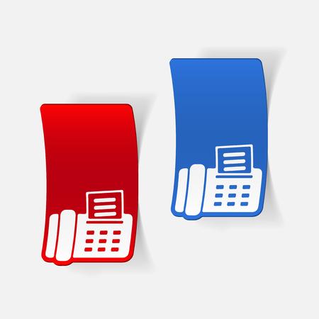 Realistic design element: fax.