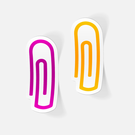 Realistic design element: paper clip.