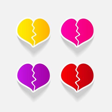 現実的なデザイン要素: 壊れた心臓