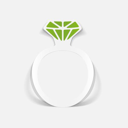 realistic design element: ring Illusztráció