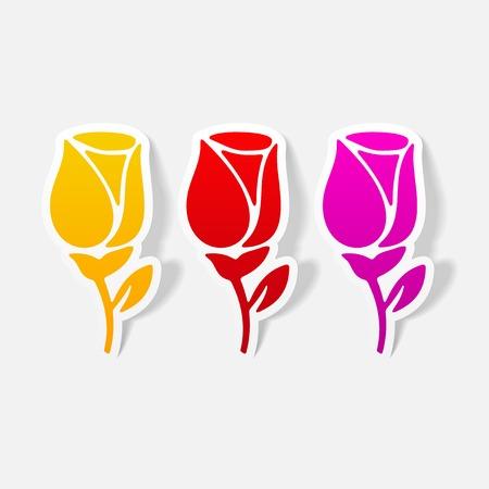 realistic design element: rose 向量圖像