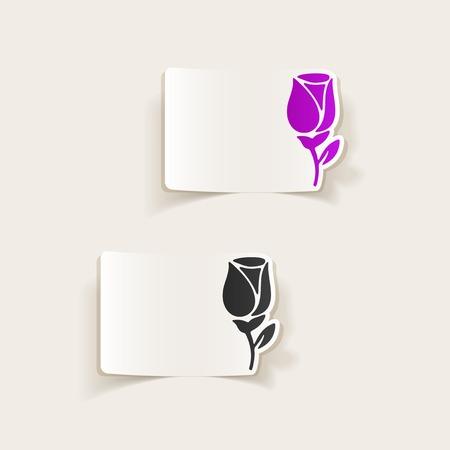Realistic design element: rose.