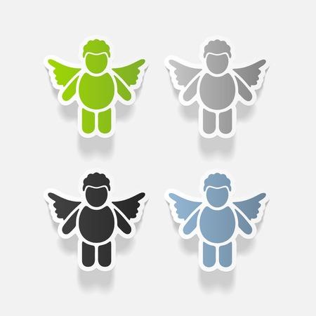 Realistic design element: angel. Stok Fotoğraf - 85140351