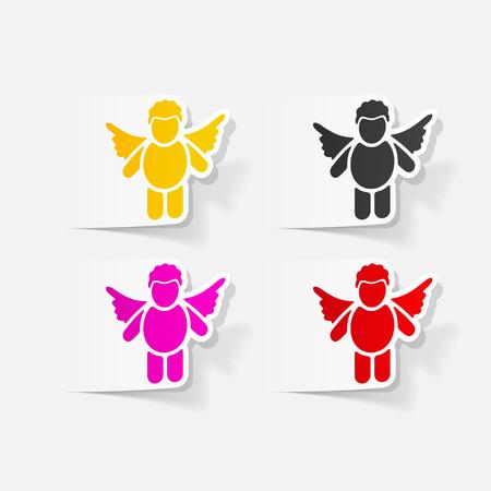 realistic design element: angel Stok Fotoğraf - 85038906
