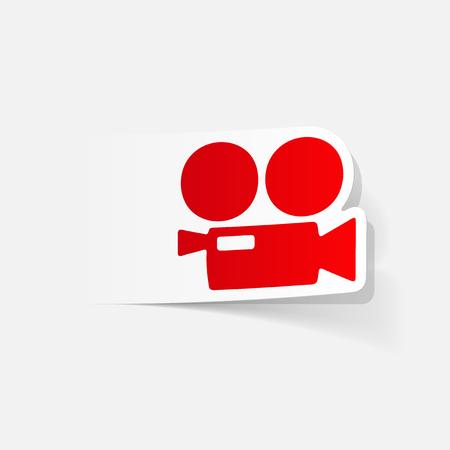 film industry: realistic design element: movie camera