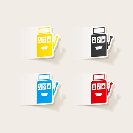 Realista elemento de diseño: máquina tragaperras Foto de archivo - 85038910