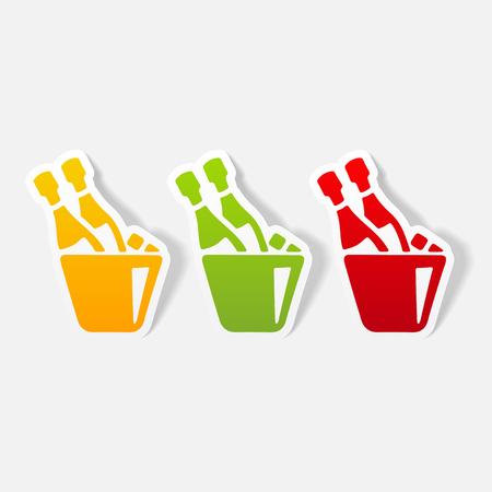 realistic design element: champagne Ilustrace