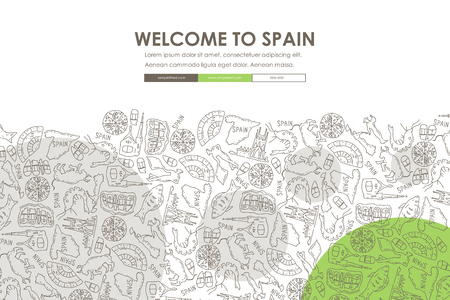 Spain Doodle Website Template Design
