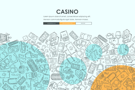 casino Doodle Website Template Design