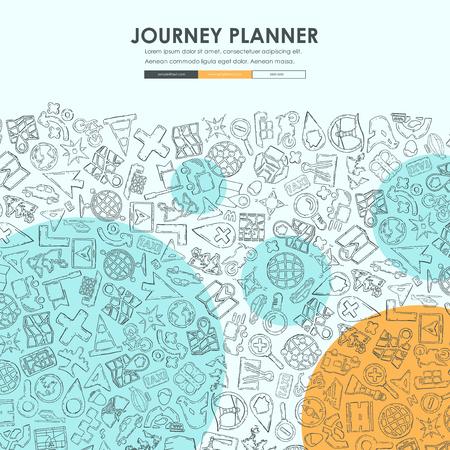 navigatie Doodle Website Template Design Stock Illustratie