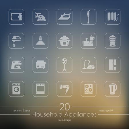 Set van huishoudelijke apparaten pictogrammen
