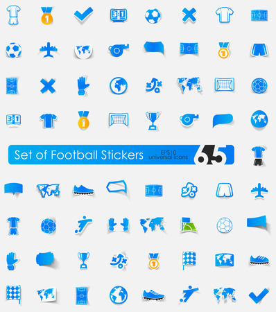 numbers: Set of football stickers