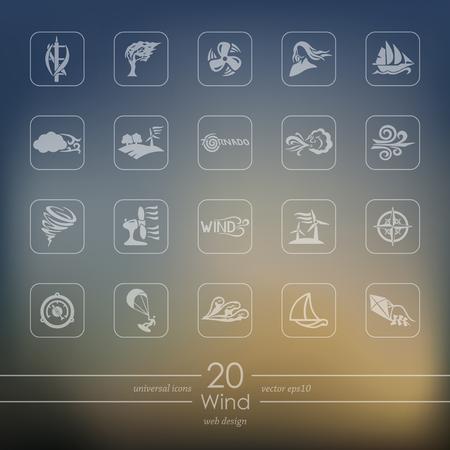 風アイコンのセット