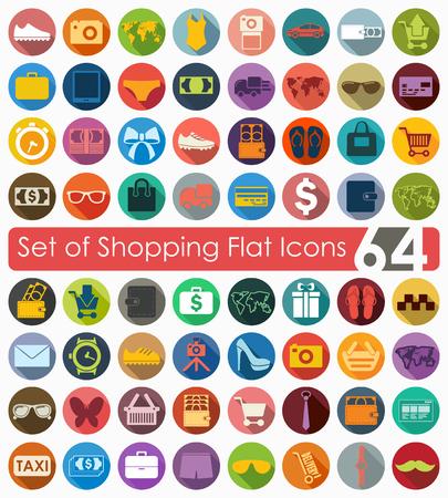 Set di icone di shopping