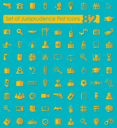 Set of jurisprudence icons 向量圖像