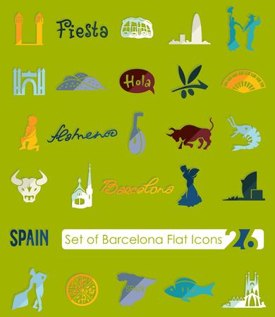 Set of Barcelona icons