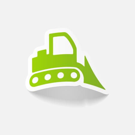 realistic design element: bulldozer Illustration