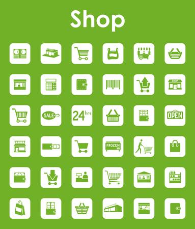 Set of shop simple icons Illustration