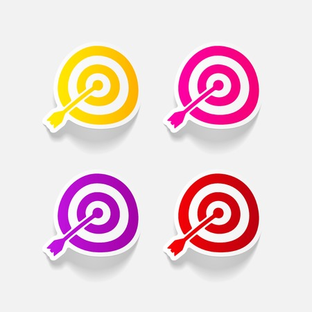 realistic design element: target Ilustrace