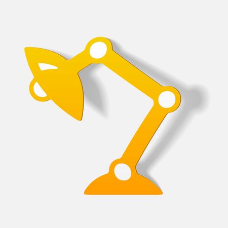 Realista elemento de diseño: lámpara de escritorio Foto de archivo - 85998686