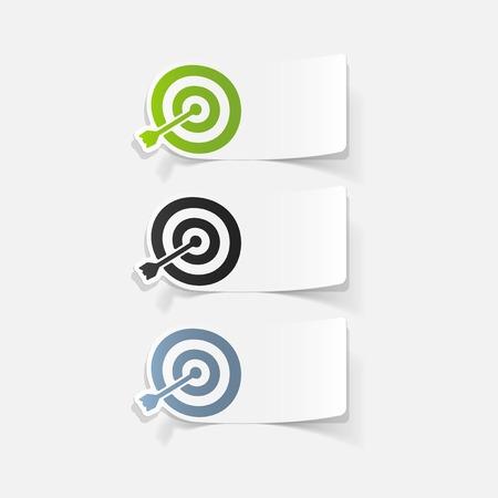 realistic design element: target Ilustração