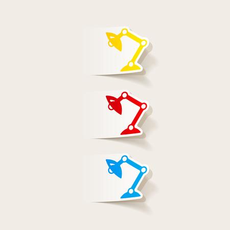 Réaliste élément de design: lampe de bureau Banque d'images - 85998691
