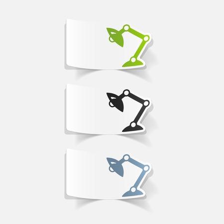 Réaliste élément de design: lampe de bureau Banque d'images - 85998692