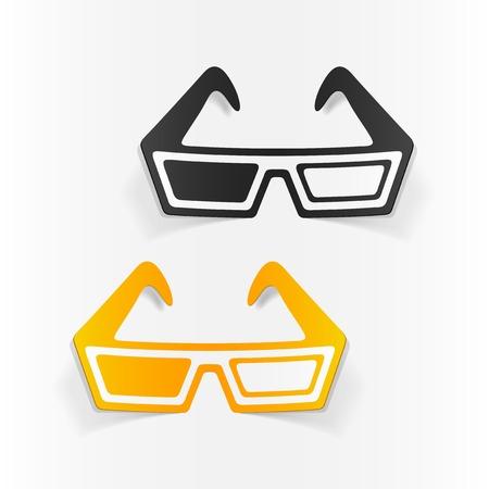 realistic design element: 3d glasses
