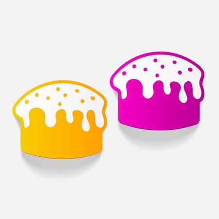 現実的なデザイン要素: イースター ケーキ  イラスト・ベクター素材