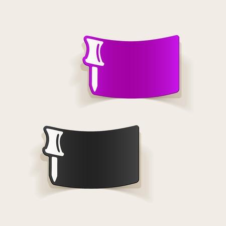 realistic design element: push pin Иллюстрация