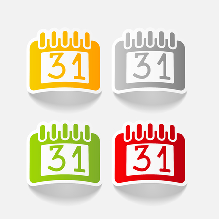 realistic design element: calendar